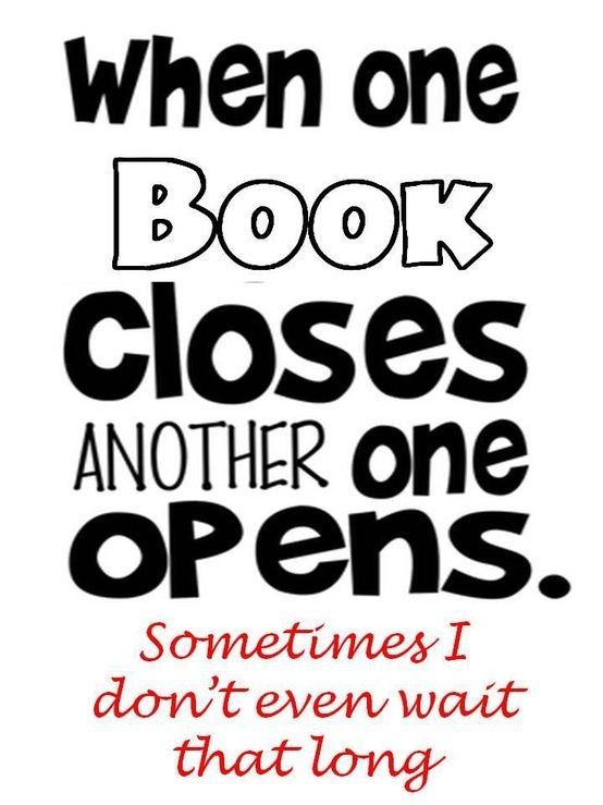 When one book closes